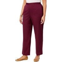 Alfred Dunner Womens Plus Pull On Classic Fit Dress Pants