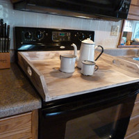 Cottage Chic, White Noodle Board, Dough Board, Country Kitchen Board, Wooden Tray, Stove Top Cover, Laundry Room