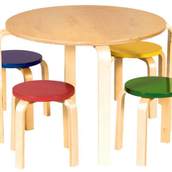 Dansk Table & Stool Set (Natural & primary)