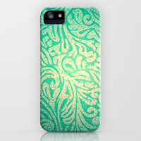 Teal Spring Paisley iPhone Case by TheLeb | Society6