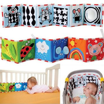 Baby Toys Crib bumper Baby Cloth Book Baby Rattles Knowledge Around Multi-Touch Colorful Bed Bumper For Kids Toys
