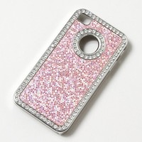 Crystal Studded Glitter iPhone Cover for 4 & 4S | Claire's