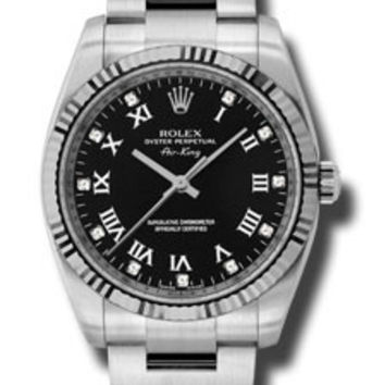Rolex Air King Mens Automatic Watch 114234BKRDO