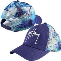 Guy Harvey Out of the Blue Trucker Hat - Royal Blue - One Size Fits All