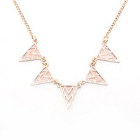With Love From CA Chevron Multi Triangle Necklace at PacSun.com