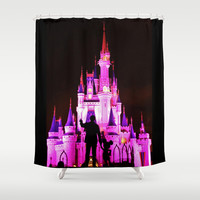 Walt, Mickey and Castle Shower Curtain by Beach Bum Pics