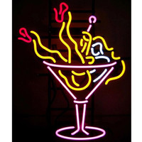 Neonetics Business Signs Martini Girl Neon Sign