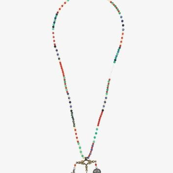 VALENTINO GARAVANI BEADED MULTI-CHARM NECKLACE