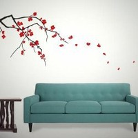wall decals-cherry blossoms(dual colour) by blank canvas designs