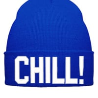 CHILL EMBROIDERY HAT - Beanie Cuffed Knit Cap