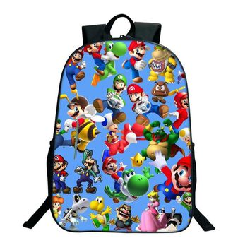 Super Mario party nes switch 2017 Hot Sale Anime  Sonic Printing Backpacks For Teenage Girls Boys School Bags Toddlers School Backpacks Children AT_80_8