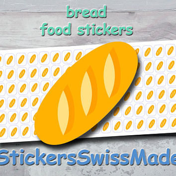 PLANNER STICKER || bread || food || small colored icon | for your planner or bullet journal