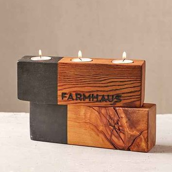 Farmhaus Blochaus Triple Candle Holder- Assorted One