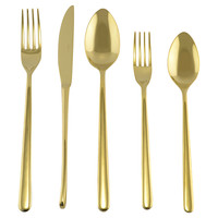 5-Pc Venice Tin Gold Place Setting, Flatware Place Settings