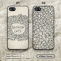 because cats iphone 5 case, iphone 5g case, cat iphone 4 case, iphone cover skin, eco friendiy, personalized
