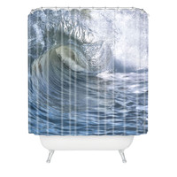 Lisa Argyropoulos Within the eye Blue Shower Curtain