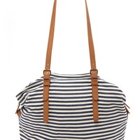 Striped Canvas Bag | Forever 21 - 1000203105