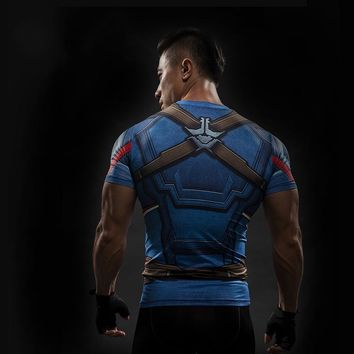 Captain america civil war t 3d shirts men iron man cosplay costumes fitness compression clothing male crossfit tops