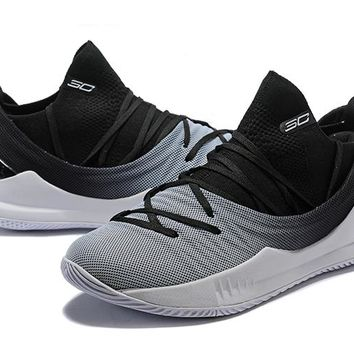 Under Armour UA Curry 5 Black -White Gradient Basketball Shoe