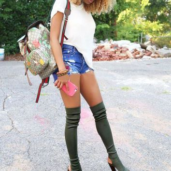 Fashion Online Rumbidzo 2017 Summer Boots Over The Knee Boots Women Shoes Spring Summer Long Boots Thigh High Botas Woman Bootie Sapatos