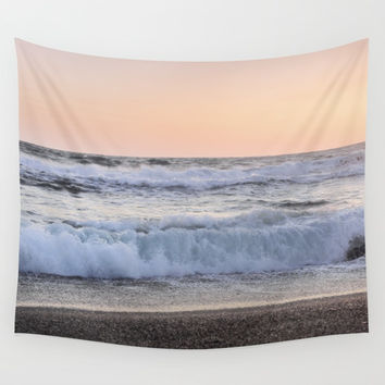 Looking at the sea.... Magnetic waves Wall Tapestry by Guido Montañés
