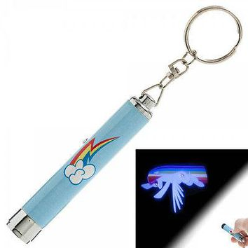 My Little Pony Rainbow Dash Signal Projection Flashlight Keychain LICENSED NEW