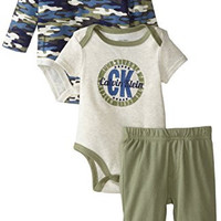 Calvin Klein Baby-Boys Newborn Green Blue Bodysuits with Pants, Multi, 3-6 Months