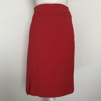 J JILL Women's Plus Size XL Tomato Red Stretch Pencil Skirt BRAND NEW