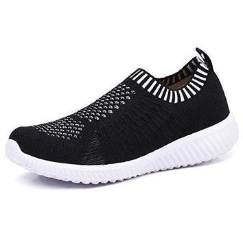 Athletic Flyknit Breathable Running Shoes - Black