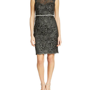 Js Collections Illusion Lace Sheath Dress