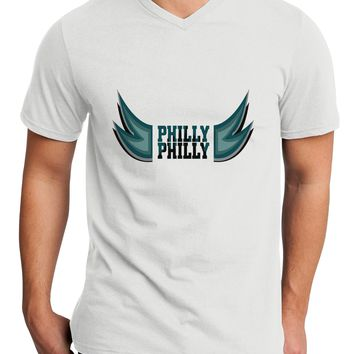 Philly Philly Funny Beer Drinking Adult V-Neck T-shirt by TooLoud