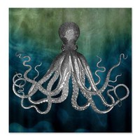 CafePress Octopus Shower Curtain - Standard White