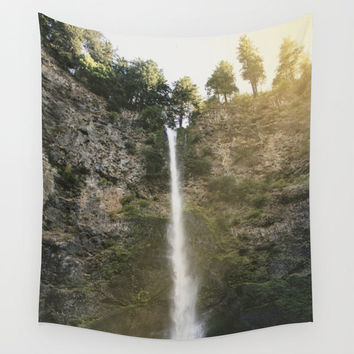 Waterfall Hanging Tapestry - Wall Tapestry - Multnomah Falls Oregon - Nature Wall Hanging - Large Wall Hanging - Home Decor - Made to Order