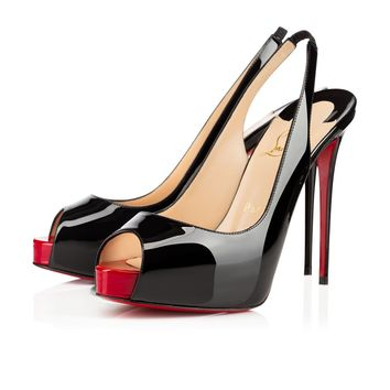 Best Online Sale Christian Louboutin Cl Private Number Black/red Patent Leather 120mm Stiletto Heel Ss15