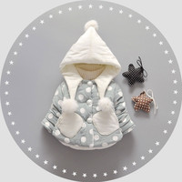 2016 winter girl baby clothes Christmas birthday jacket outerwear for infant baby girl clothing brand cotton thick jackets coats