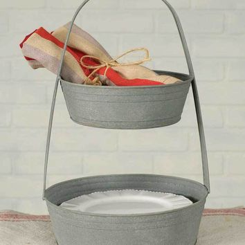 Two Tier Metal Caddy Tote