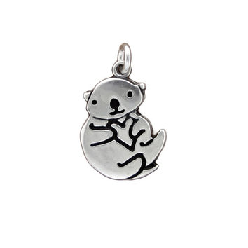 Otter Sterling Silver Charm Necklace