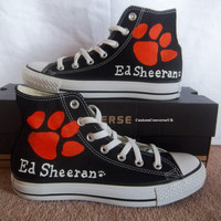 Ed Sheeran Converse All Stars BLACK by CustomConverseUK on Etsy