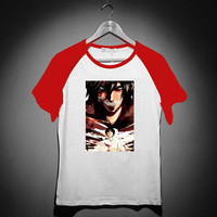 Attack of titan dead ESDEGAN - Short Sleeve Raglan - White Red - White Blue - White Black XS, S, M, L, XL, AND 2XL *02*