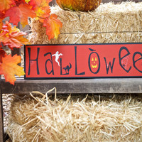 Halloween sign Black and Orange Halloween decoration Holiday Decor & Housewares Signage Fall sign Creepy sign Spooky sign Glittery