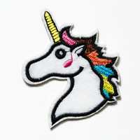 Unicorn Rainbow Patch - Unicorn Gifts - Unicorns Patches - Cute Patch - Iron on Unicorn Patch - Bright Patches - Horse Patch - Sew On