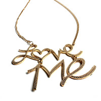 """""""Love Me"""" Gold Necklace"""
