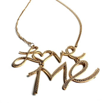 """Love Me"" Gold Necklace"