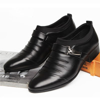 Men's Genuine Leather Monk-Strap Shoes