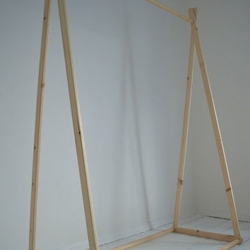 Handmade, Natural Wood, Clothes Rack