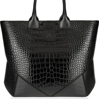 Givenchy Easy bag in black croc-embossed leather