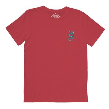 Snake embroidered red t-shirt by Altru Apparel