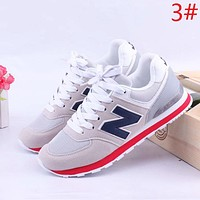 New Balance New fashion contrast color couple shoes