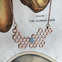 Copper Honeycomb Opal Statement Piece