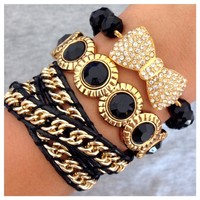 Hustle Hard Bracelet Set- Tanya Kara Jewelry